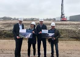 Bouw nieuw distributiecentrum op bedrijventerrein het Atlaspark haven Amsterdam